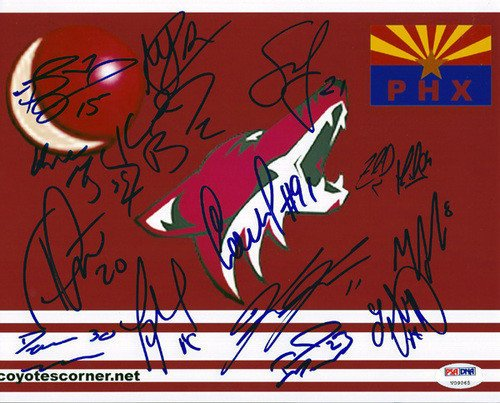 - 2005-2006 Phoenix Coyotes Signed 8x10 Photograph With 14 Signatures Including Wayne Gretzky - Certified Genuine Autograph By PSA/DNA - NHL Hockey Photograph