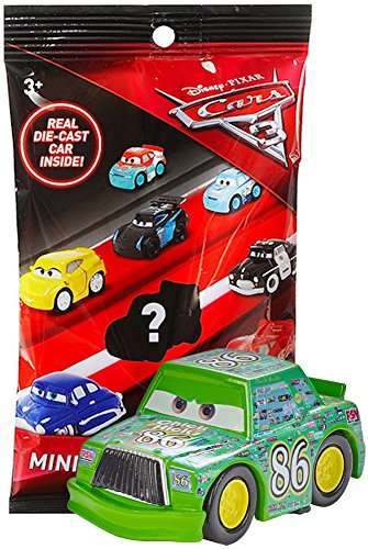 Cars 3 Die-Cast Mini Racers in Sealed Bag, Plus Cars 3 Officially Licensed Sticker by Disney Pixar - Chick Hicks (Chick Hicks)