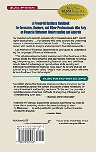 Analysis Of Financial Statements Leopold Bernstein John J Wild