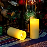 GiveU Smooth Flameless Led Candle, Real Wax