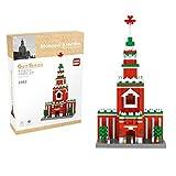 Yzakka 872Pcs Educational Creative Construction Building Blocks Landmark Construction Bricks Toy Set Moscow Kremlin