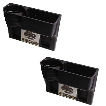 Paquete de 2 cajas de almacenamiento para autos Portavasos ...