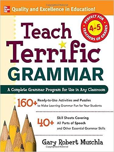 Workbook diagramming worksheets : Amazon.com: Teach Terrific Grammar, Grades 4-5: A Complete Grammar ...