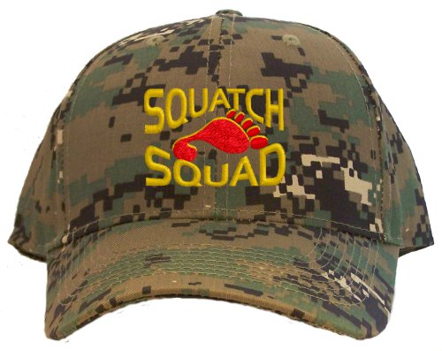 Squatch Squad Embroidered Baseball Cap - Camo