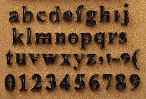 Magnetic Poetry Press In Letters and Numbers Stone Concrete Stamps - Lowercase Traditional (Stone Letters)