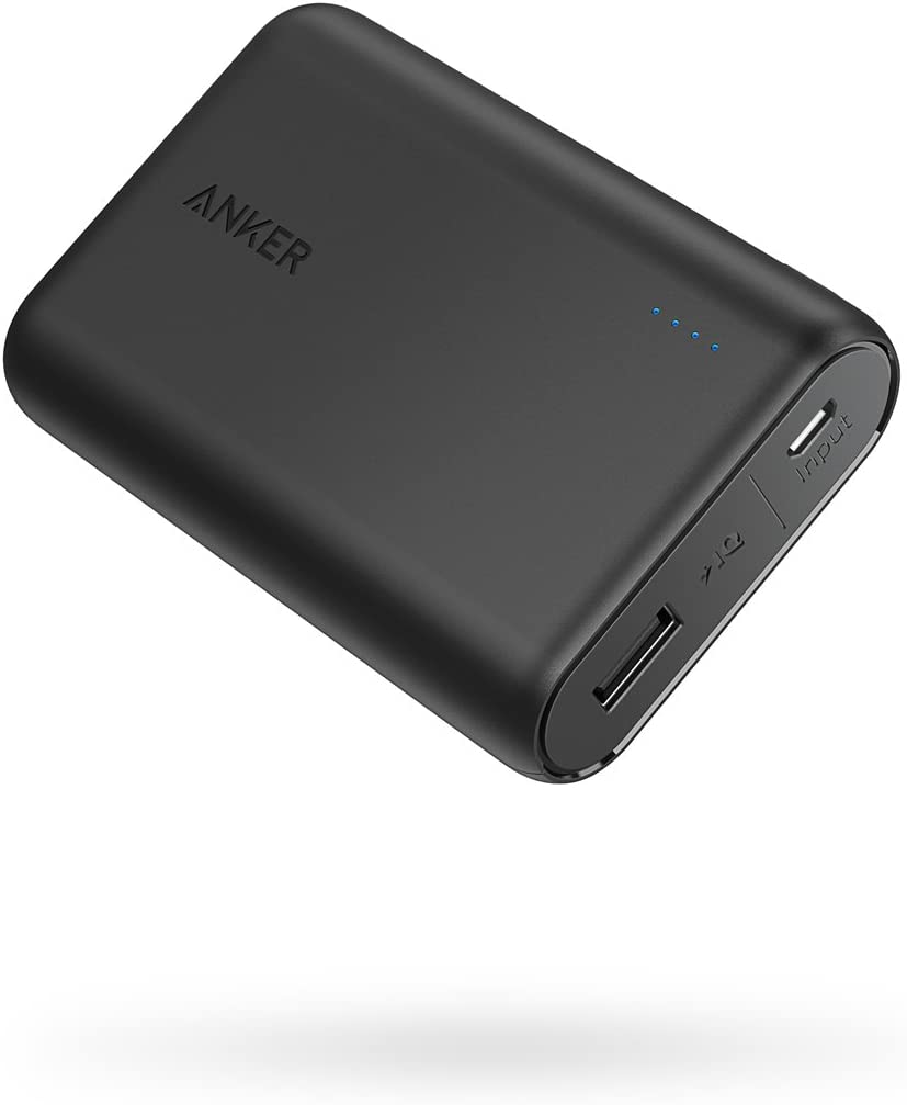 Anker PowerCore 10000 Portable Charger, ein of die Smallest and Lightest 10000mAh Power Bank, Ultra-Compact Battery Pack, High-Speed Charging Technology Phone Charger for iPhone, Samsung and More.