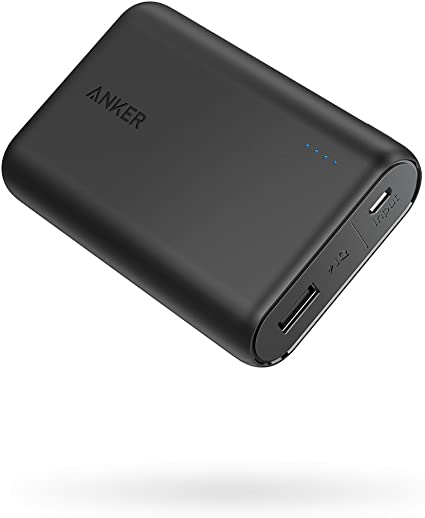 Amazon Com Anker Powercore 10000 Portable Charger One Of The Smallest And Lightest 10000mah Power Bank Ultra Compact Battery Pack High Speed Charging Technology Phone Charger For Iphone Samsung And More