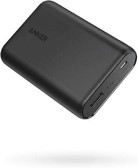 Anker PowerCore 10000 (10000mAh 最小最軽量 大容量 モバイルバッテリー)【PSE認証済/PowerIQ搭載】 iPhone&Android対応 *2019年9月時点 (ブラック)