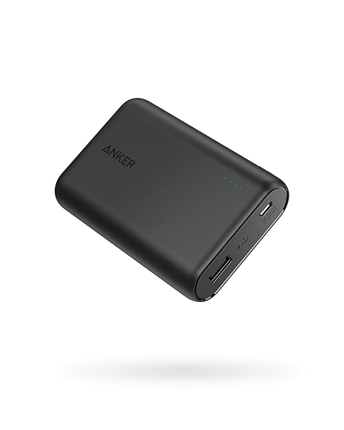 Anker PowerCore 10000, One of The Smallest and Lightest 10000mAh External Batteries, Ultra-Compact, High-Speed Charging Technology Power Bank for iPhone, Samsung Galaxy and More best men's travel accessories