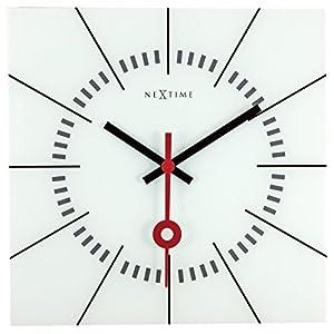 Nextime Stazione Reloj de Pared, Blanco, 35 x 3.3 x 35 cm 6