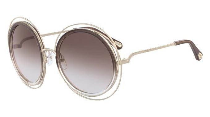 2e96936ed404 Chloé CARLINA CE120SD PALE GOLD BROWN DARK BROWN SHADED women Sunglasses   Amazon.co.uk  Clothing