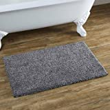 Multiply Drylon Bath Rug Grey Shadow Heather