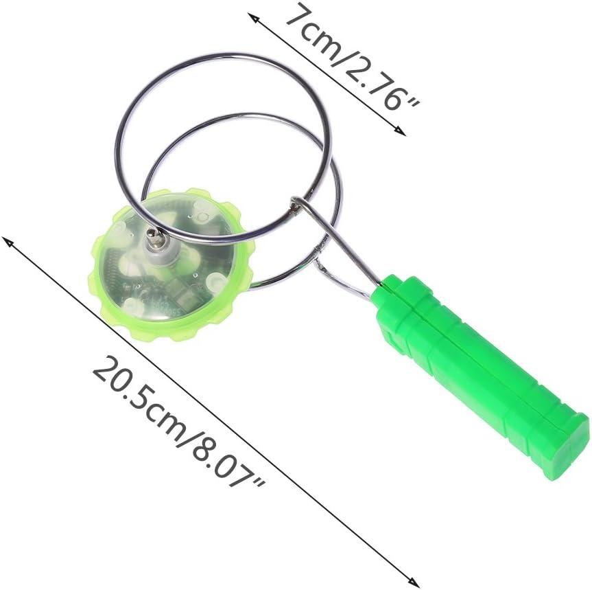 drehbar LED magisch Fuwahahahahah magnetisches Gyro-Rad buntes Licht Gyro YoYo Spielzeug f/ür Kinder blau