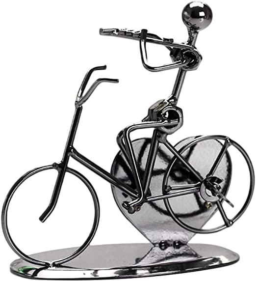 LIOOBO Ciclismo en 3D Vintage Modelo de Bicicleta Escultura ...