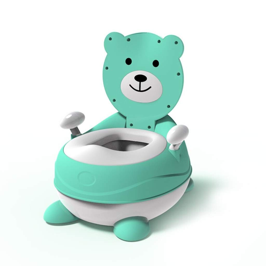 XWJC Children's Toilet Baby Infant Large Men and Women Children 1-3 Years Old Urinal Potty Baby Toilet Full Pu Cushion (Color : Green)