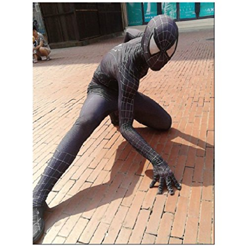 [Smoon Cosplay The Amazing Spider-Man Black and White Jumpsuits Customized Costume] (Black Suit Spiderman Costume)