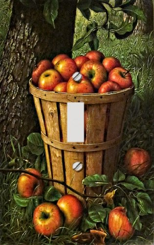Country Apple Basket Decorative Switchplate Cover