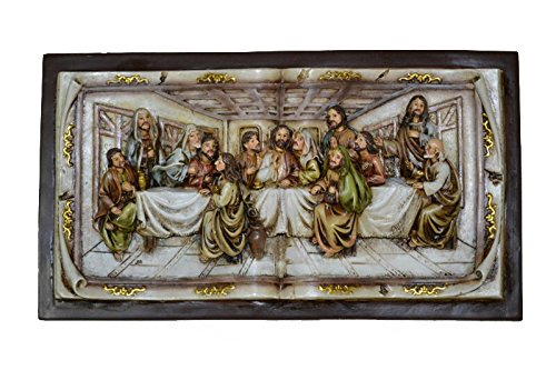 Hi-Line Gift Ltd Last Supper Wall Plaque, X-Small/525