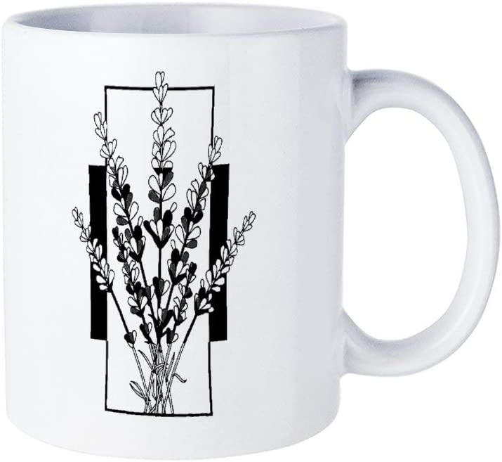 Funny Coffee Mug,Lavender Plant Nature Summer Herb Garden Flower Mug for Housewarming Office Bar birthday Custom Mug,11oz Mug Best Personalised Present to Your Friend Lover Family