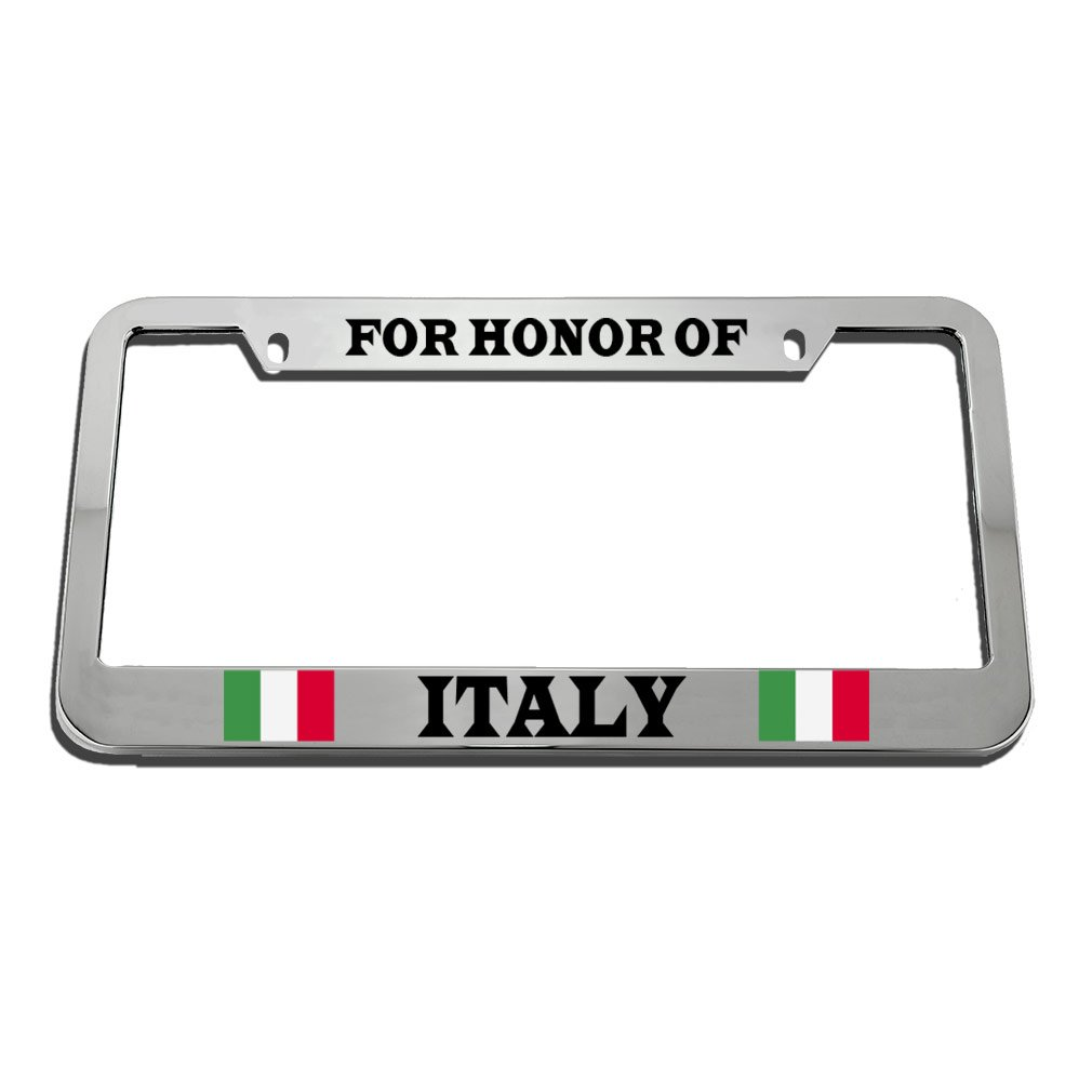 Speedy Pros For Honor Of Italy Italian Country License Plate Frame Tag Holder