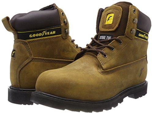 Goodyear Botas de seguridad de piel con corte medio, impermeables, para servilletas, UK 6/EU 40, Negro, 1: Amazon.es: Industria, empresas y ciencia