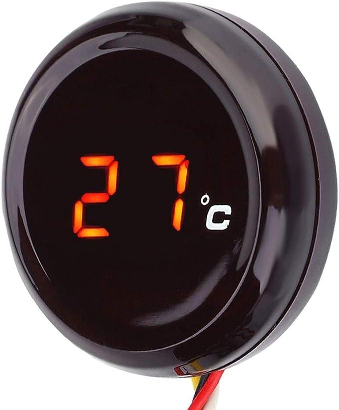 Motorrad Thermometer Digital Thermometer Wassertemperaturanzeige Für Honda Kawas Aki Yama Ha Suzu Ki Farbe Red Light Auto
