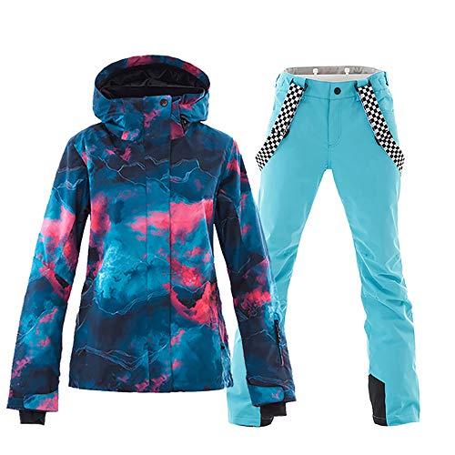Mous One Women's Waterproof Ski Jacket Colorful Snowboard Ja