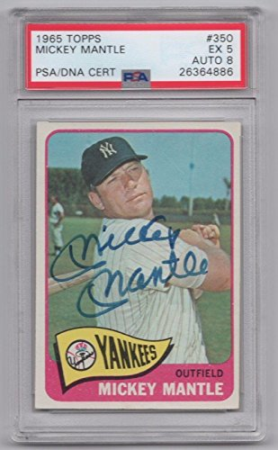 Picture of Autographed Mickey Mantle Baseball Cards
