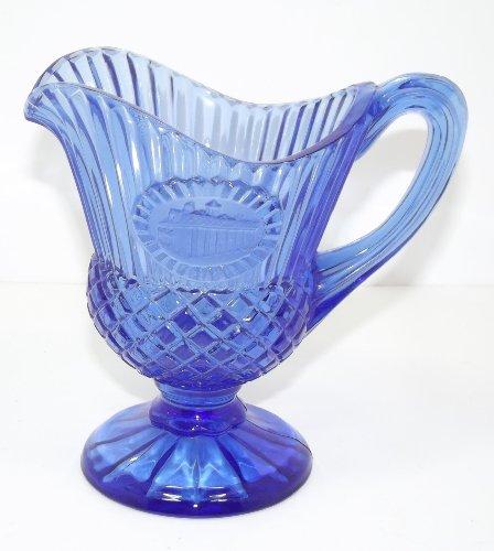 (Vintage Cobalt Blue Glass Avon Creamer )