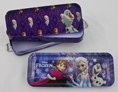 Disney's Frozen Blue and Purple Multi-Compartment Pencil Box