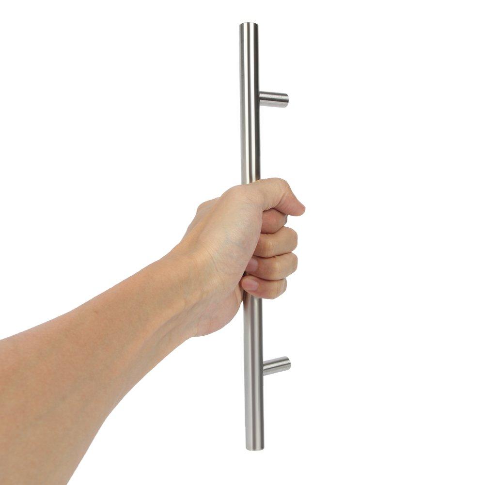 barras de agarre 10/x tubo de acero inoxidable set de tiradores para muebles empu/ñaduras /Ø 12 mm.