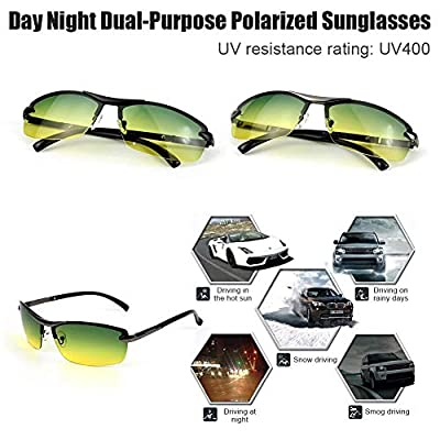 leiusXD New Day and Night Polarized Sunglasses Outdoor Riding Protective Glasses Night Glasses