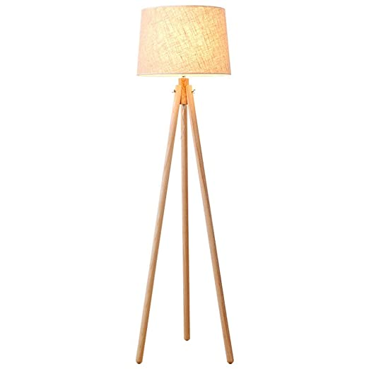 Lámparas de Pie Lámpara de Piso Luz de Pie Nordic Simple Lámpara de pie de madera