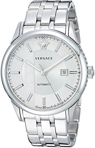Versace Men's 'AIAKOS' Swiss Automatic Stainless Steel Casual Watch, Color:Silver-Toned (Model: V18040017)