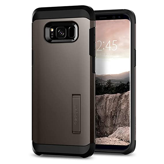 on sale c8628 d5a52 Spigen Tough Armor Designed for Samsung Galaxy S8 Case (2017) - Gunmetal