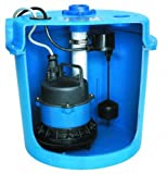 GOULDS PUMPS SDS1 Sink Drain Systems, Cast Iron Effluent Pump with Float/Basin, 4/10 hp, 115V
