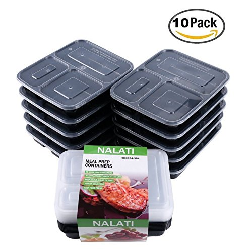NALATI 3 Compartment Leak Proof Food