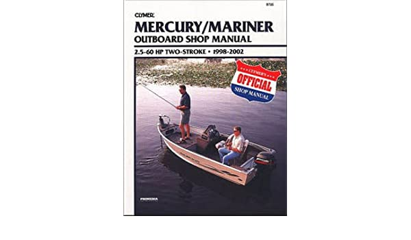 nos-b725 1998-2002 mercury-mariner 25hp ? 60hp outboard boat engine on
