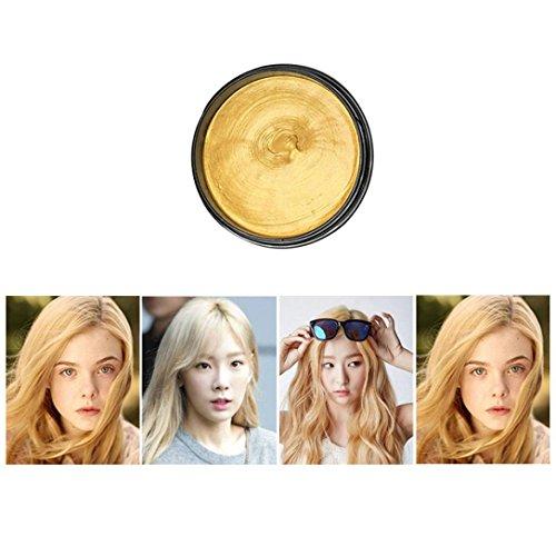 Creazy 8 Colors Unisex DIY Hair Color Wax Mud Dye Cream Temporary Modeling (Cherry Sun Protection Cream)