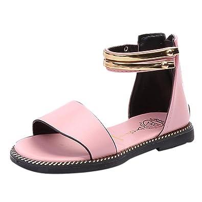 8ed4887feb977 OHQ Les Filles Chinoises Et Enfants Plates Sandales Romaines Blanc Noir Rose  BéBé Mode Sneaker GarçOns