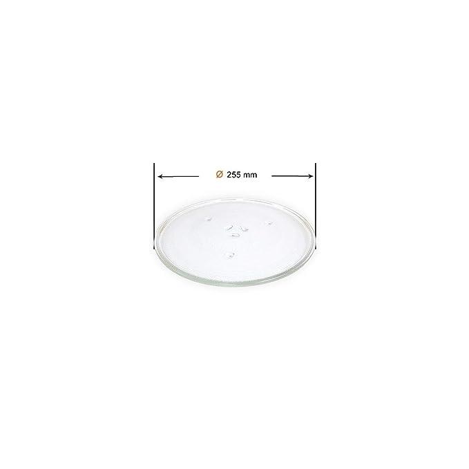 Recamania Plato microondas Samsung LG 255mm (Anclaje 13mm) GW73B-XEO DE74-00027A