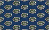 9'x12' FLORIDA - Milliken NCAA College Sports Team Repeat Logo 100% Nylon Pile Fiber Broadloom Custom Area Rug Carpet with Premium Bound Edges