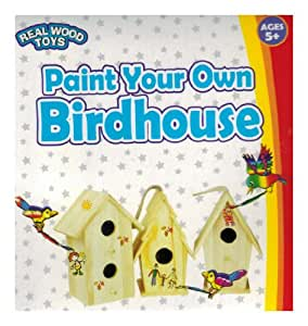 Paint Your Own Birdhouse - by Real Wood Toys