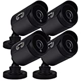 Night Owl Security, 4 Pack of 720p HD Wired Security Add-on Bullet Cameras (Black)