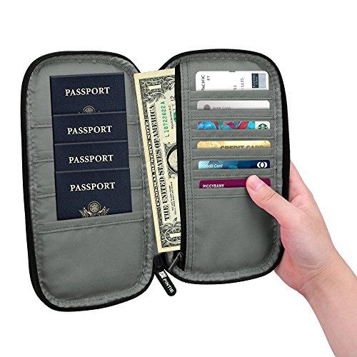 Family Passport Holder, Fintie RFID Blocking Zipper Case Document Organizer, Love Tree by Fintie (Image #9)'