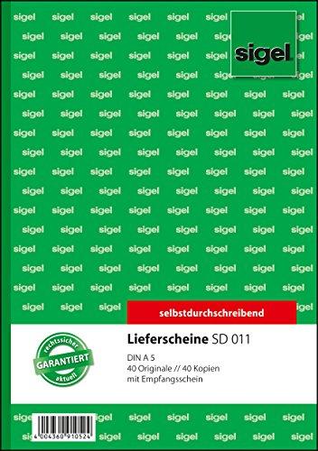 Sigel SD011 Lieferscheine A5, 2x40 Blatt, selbstdurchschreibend, 1 Stück