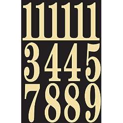 """Self Adhesive Vinyl Numbers 3"""" Inch - Prisim Silver"""