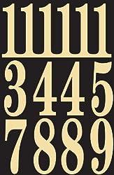 """Hy-ko Mm-5n Self-stick Numbers, 3"""", Blackgold"""