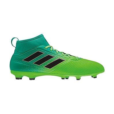Adidas Men's Ace 17.3 Primemesh Fg Solar Green/Core Black/Core Green Soccer  Shoes
