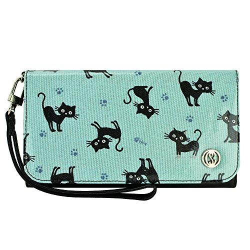 Smartphone Wallet, Smartphone Wristlet, caseen LINDA Clutch Purse Bag Pouch Smart Phone Case